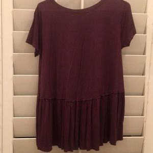 purple plum color t-shirt from urban